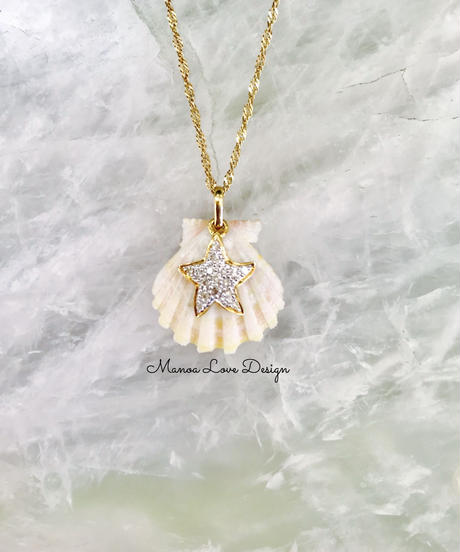 14K ホワイトサンライズシェル&ヒトデダイヤモンドチャーム($388)