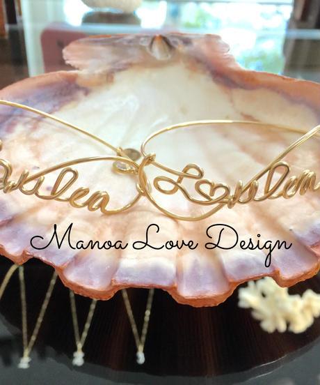 Manoa Love Design/ Laulea(ハワイ語 幸せ)ブレスレット ($128)