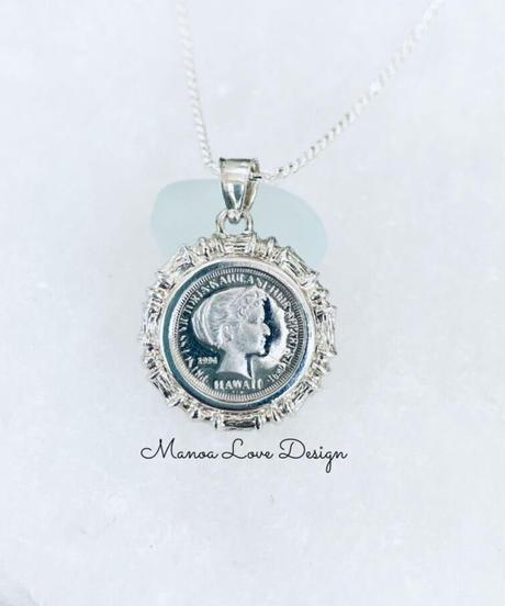 1点物 1994年 シルバー.999純銀 プリンセス ビクトリア カイウラニ ハワイコインネックレス($380)