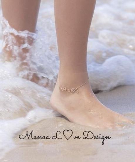 Manoa Love Design/14K  カスタムワイヤーネームアンクレット($248)