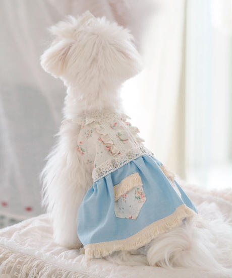 【Jeanie Love 】Pretty Dungaree Dress(ライトブルー) XSサイズ・Sサイズ