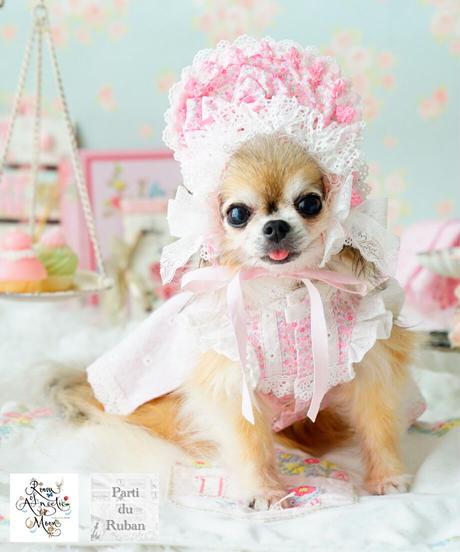 *販売終了*【 Parti du Rubanさんコラボ】Sweetie Patissier Girls(スィーティパティシエガールズ)XS.Sサイズ +Half Bonnet (ハーフボンネット)