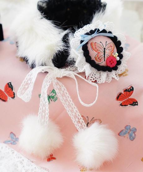 ☆コラボ☆お帽子Set『Velvety Butterflies (ベルベティバタフライ)』XSサイズ/Sサイズ