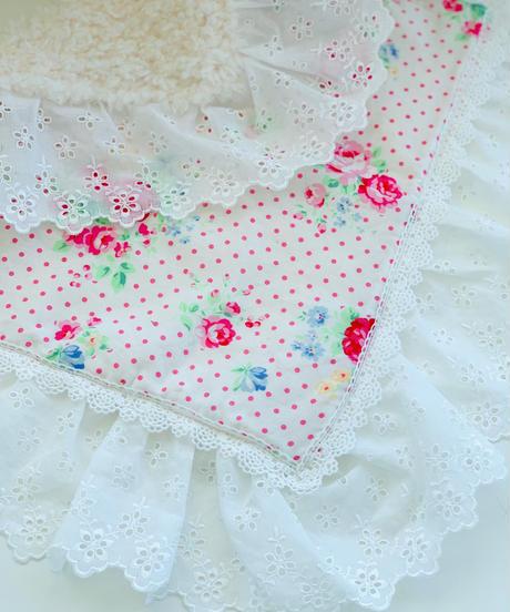 """""""残り1点""""【Cafe Mat】 Lovely Flower fabric Cafe mat(ラブリーフラワーファブリックカフェマット)"""