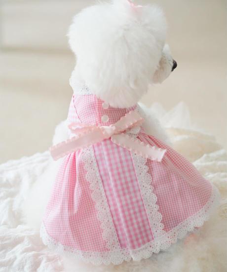 【Picnic of Marie Antoinette】Sweet Vichy Dress (スィートヴィシードレス)Pink(ピンク) XSサイズ・Sサイズ