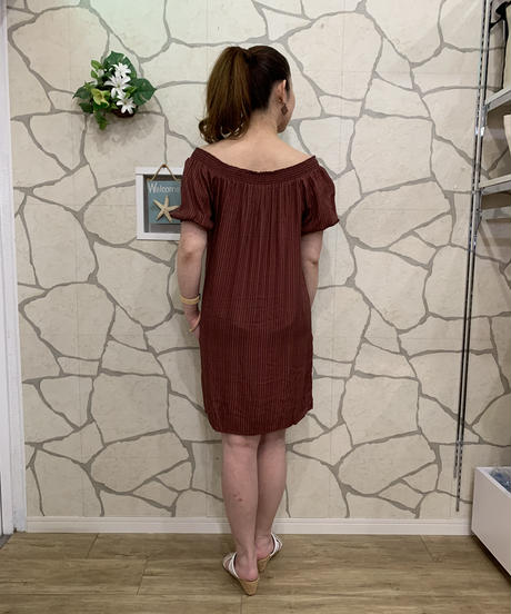 TANOA        DRESS    TIMU    【BRN】