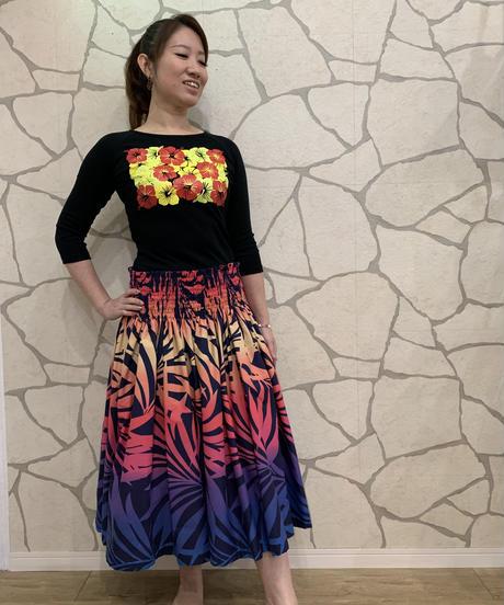 ALOALO  7分袖Tシャツ CM004【BLACK】