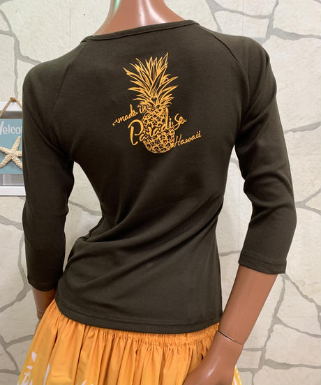 MADE IN PARADISE HAWAII  7分袖Tシャツ CM004【BROWN】