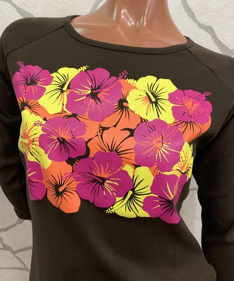 ALOALO  7分袖Tシャツ CM004【BROWN】