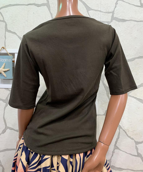LOKELANI   5分袖Tシャツ  CM008【BROWN  】