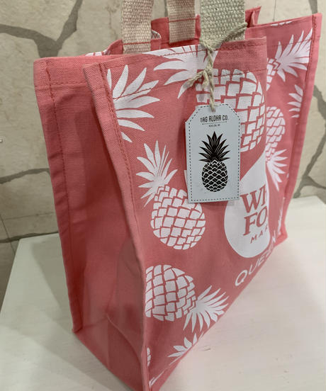 WHOLE FOODS  エコバック  QUEEN店限定 PINEAPPLE 【PINK】