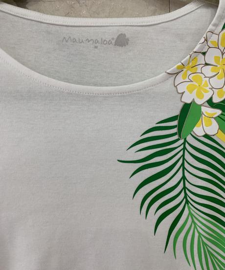 MAUNALOA  アロハプルメリアTシャツ S-SHYJX-0313 【WHITE】