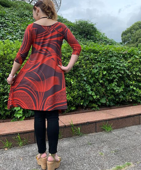 LIHUE DRESS        【BROWN】