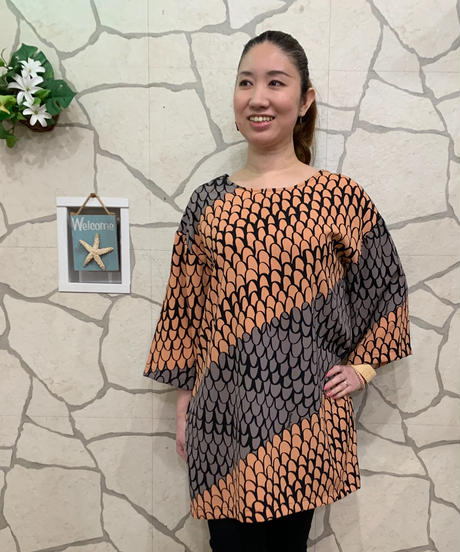 Manuheali'i   Pu'iwa  DRESS Coconut 【BRN】