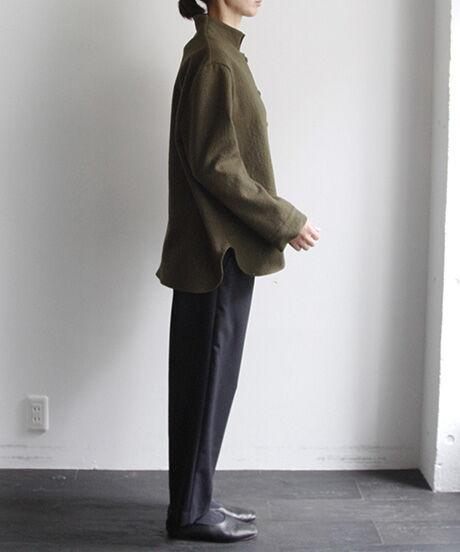 { 20A/W } 圧縮ウール・くるみボタン シャツジャケット/1302103