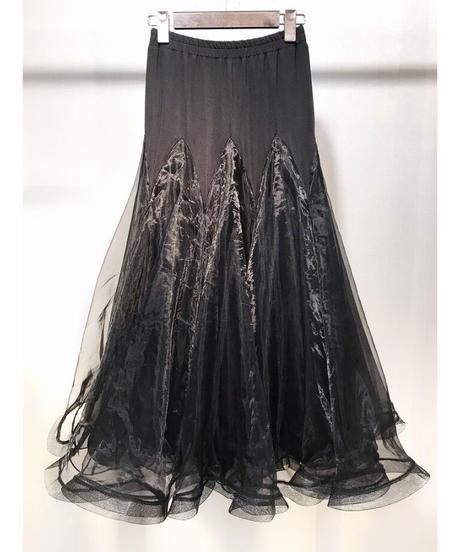 3重チュールボリュームスカート ブラック