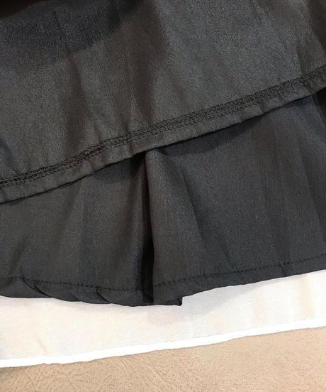 ノースリーブロングワンピースドレス  モノトーン
