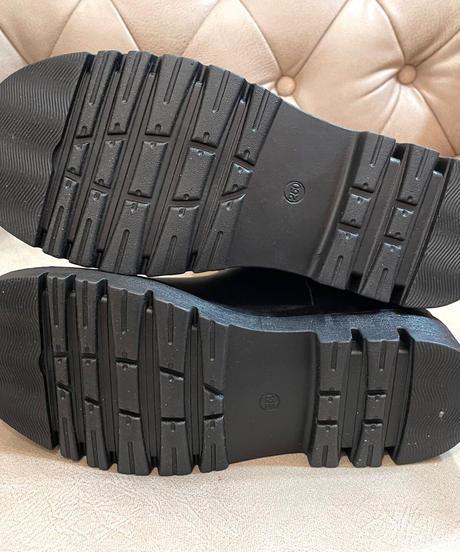 エコレザーハイトップサイドゴアブーツ  ブラック