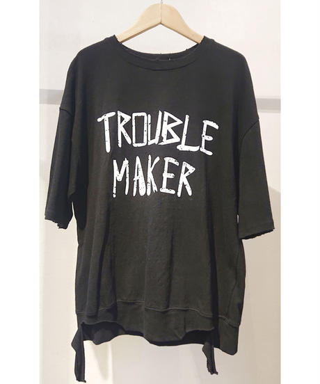 韓国セレクト「trouble maker」ロゴスウェットTシャツ ブラック