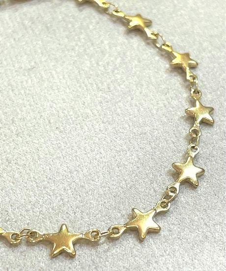 星モチーフチェーンブレスレット  ゴールド