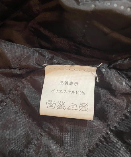 エコファー中綿ロングコート キャメル