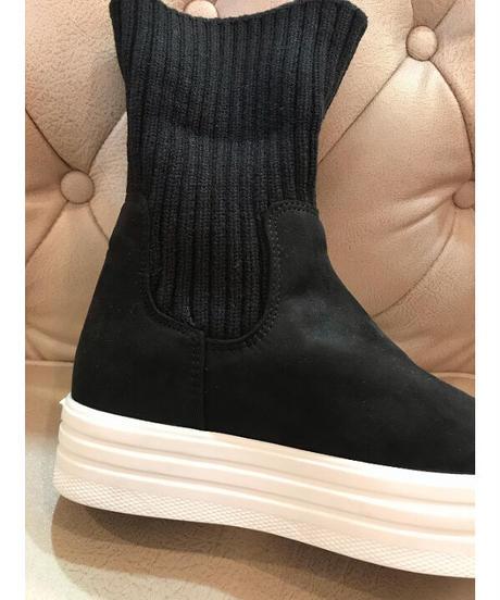ソックススニーカーブーツ ブラック