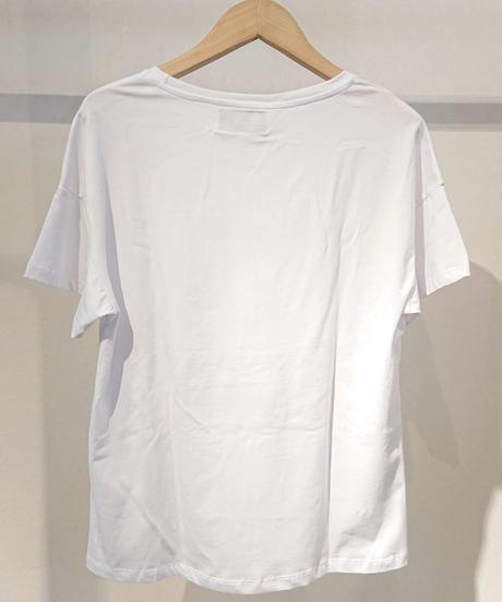 ワニ×車プリントTシャツ ホワイト