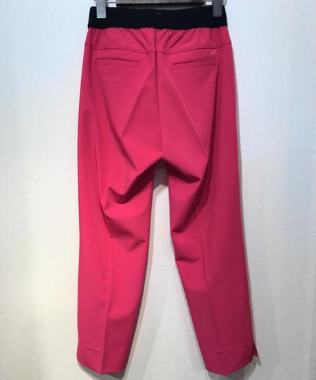裾スリットテーパードパンツ  ピンク  M