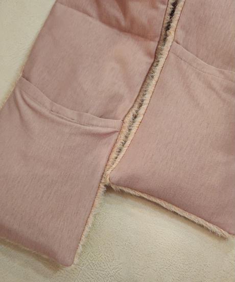 アルパカウール 2wayコート ピンク