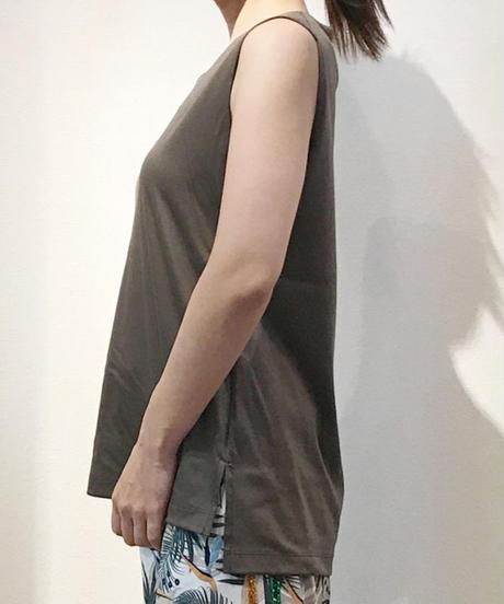 【オリジナル 】ノースリーブカットソー カーキ  ブラウン  グレー