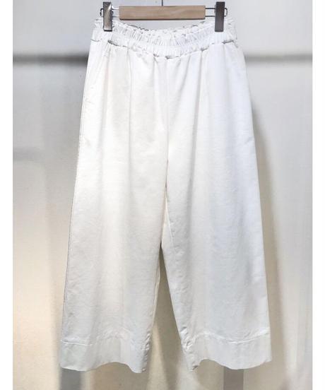 コットンワイドパンツ ホワイト
