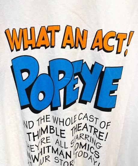KOREA select 『POPEYE』ロゴTシャツ ホワイト