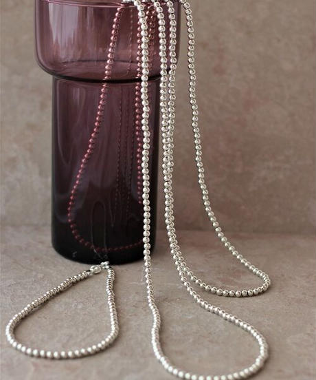 5㎜ silver beads short necklace (MA-N-02)