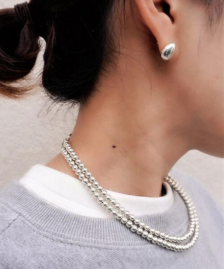 5㎜ silver beads middle necklace (MA-N-03)