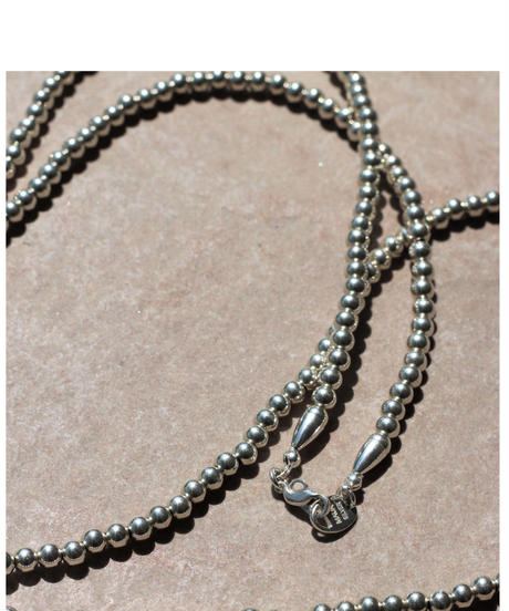 5㎜ silver beads long necklace (MA-N-04)