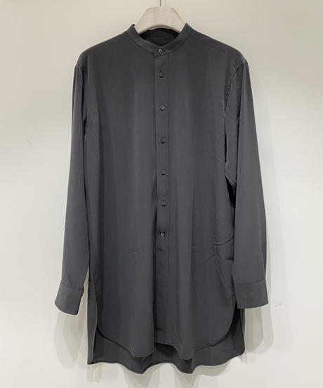 【RAINMAKER】BAND COLLAR LONG SHIRT / CHARCOAL