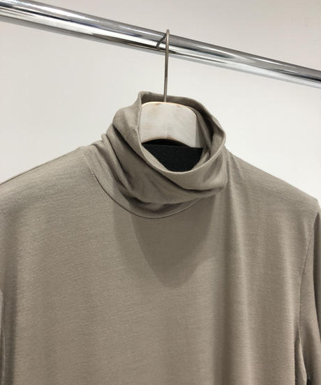 【RAINMAKER】WASHABLE-WOOL HIGH NECK SHIRT