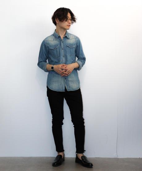 【KURO】デニムウエスタンシャツ