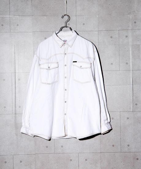 ブリーチデニムシャツ