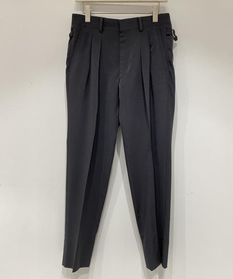 【RAINMAKER】2-PLEATED TROUSERS / CHARCOAL