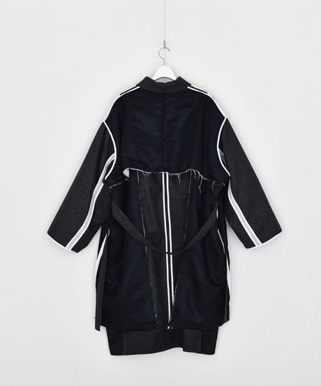 【DISCOVERED】Check nylon coat