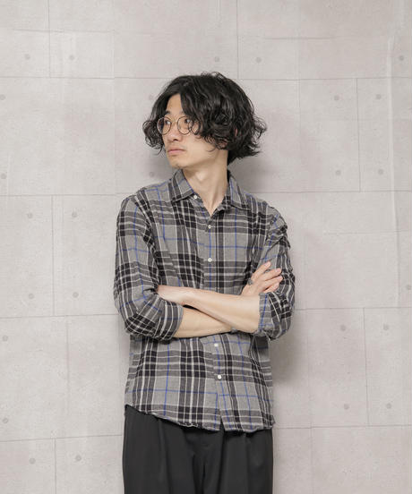 【SHIPS】ナロー/フェザー ネルチェックシャツ