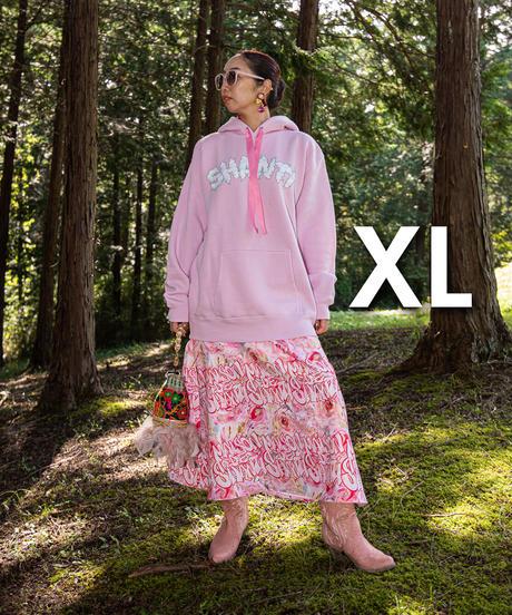 もくもくシャンティパーカー(ピンク x サニーデイブルー x ピンクリボン)
