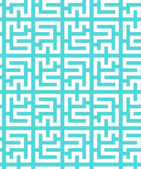 Aライン2段フリル ロングワンピース(モノグラム/ブルー・ピンク)