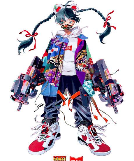 MSSD×SARA YOKOTA collaboration ファティーグshirt