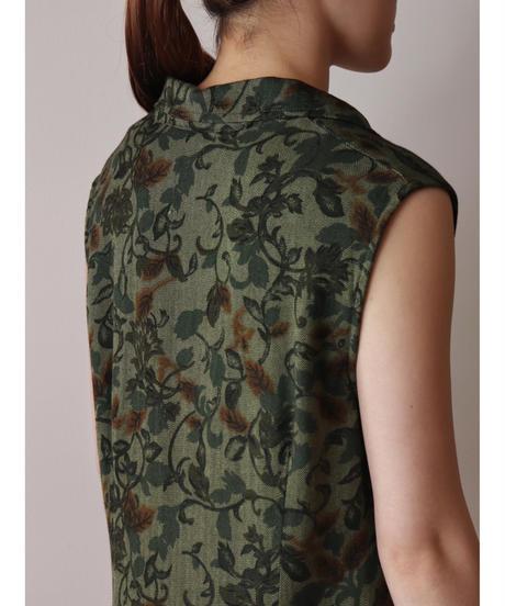 N/S flower pattern rayon one piece