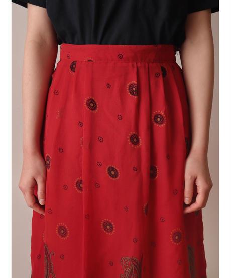 Paisley pattern volume skirt