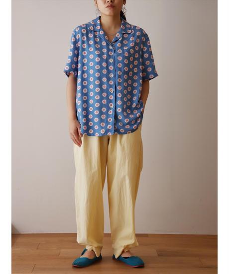 """Liz"" marigold design rayon shirt"