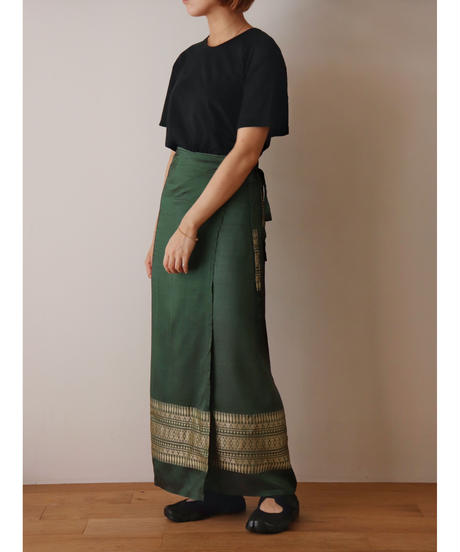 Ethnic style rolled skirt