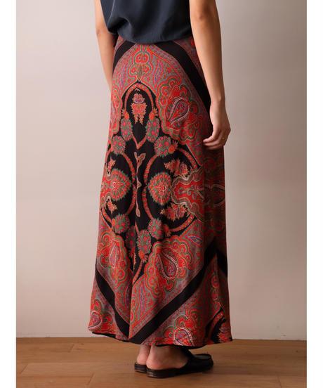 Paisley pattern long skirt